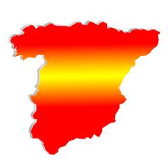 Landkarte Spanien - 3D