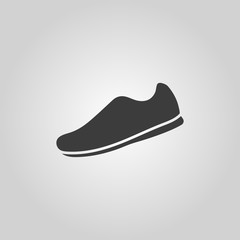 The sneaker icon. Shoes symbol. Flat