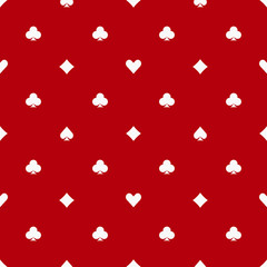 Poker red seamless pattern