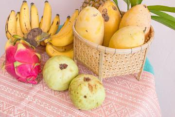 Thai fruit on table