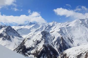 French Alps winter - Rhone-Alpes region