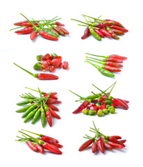 hot chili pepper on a white background