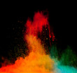 colored dust explosion on black background - 80741542
