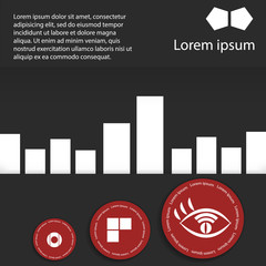 Infographics diagram with circles and place for your text