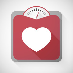Weight scale with a heart