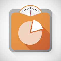 Weight scale with a pie chart