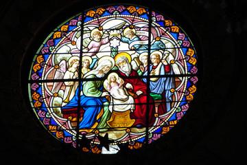 Beautifull stain glass - The Birth