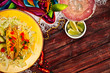 Background: Display of Tacos and a Margarita for Cinco De Mayo - 80743547