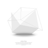 Abstract polygonal geometric shape.