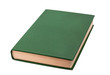 Closed green book isolated