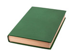 Closed green book isolated - 80744388