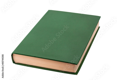 canvas print picture Closed green book isolated