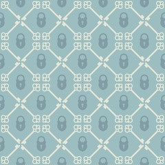 Keys seamless pattern