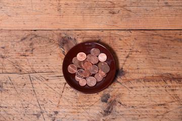 Trinkgeld Euro Teller