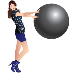 girl and a ball