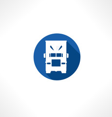 Truck flat icon. Vector. Transportation.