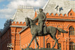 Постер, плакат: Marshal Zhukov on horseback