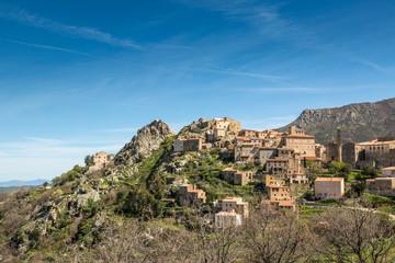 Village of Spelonato in Balagne region of Corsica