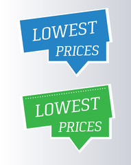 Label – lowest prices