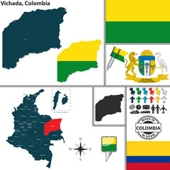 Map of Vichada, Colombia