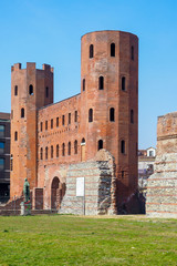 Porte Palatine ancient roman monument archeology Turin Italy