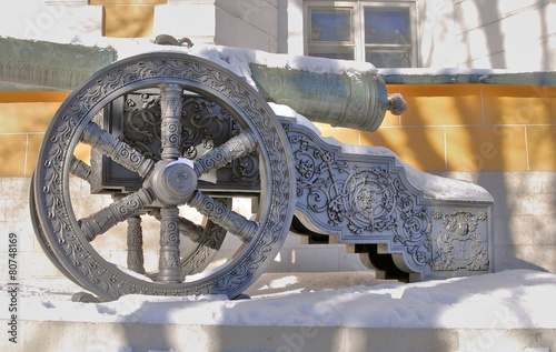Old cannon shown in Moscow Kremlin.