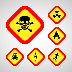 warning icons set great for any use. Vector EPS10.