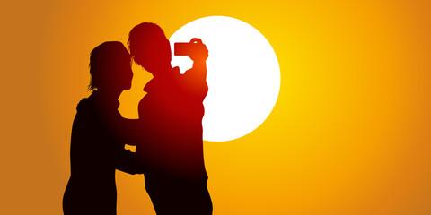Selfie - Soleil Couchant