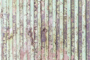 Green rusty metal
