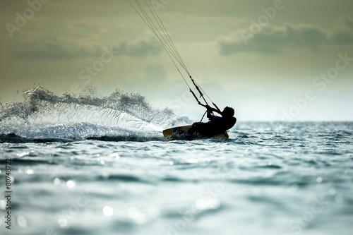 Deurstickers Zeilen Kitesurfing