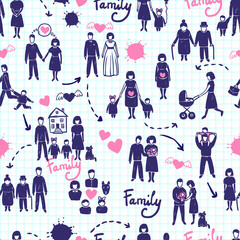 Family Seamless Pattern