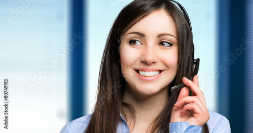 Smiling call center operator - 80749913