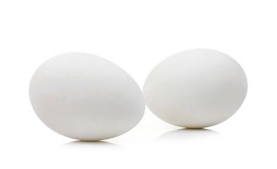preserved egg on white background