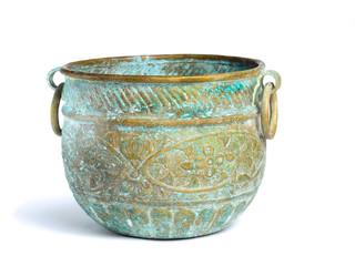 antique copper bowl for pouring