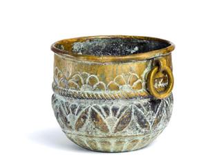 antique copper bowl