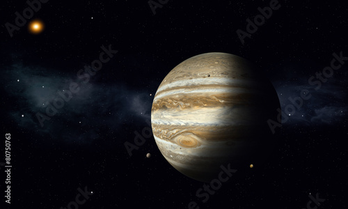 Jupiter with Moons - 80750763