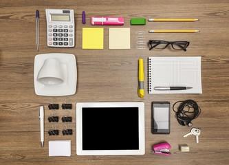 Desk. Organized Data