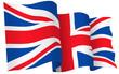 UK British flag waving - vector illustration isolated on white - 80752567