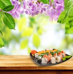 Sashimi. Japanese food - Sushi and Sashimi
