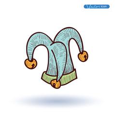 joker Hat, Hand Drawn, vector illustration.