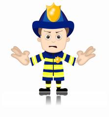 Ben Boy Fireman firefighter unfriendly mad fire man