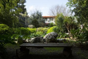 Mediterranean garden of a boutique hotel
