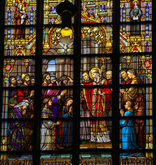 Stained Glass of the Confirmation in Den Bosch Cathedral