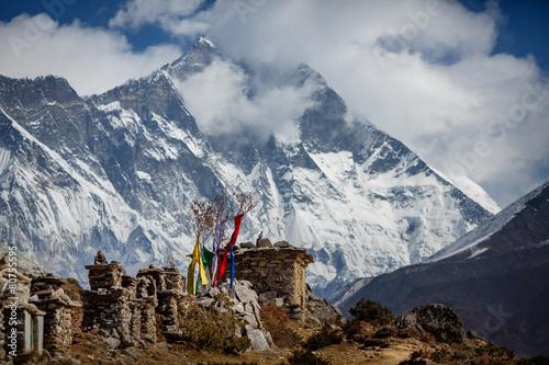 Himalayan mountains view