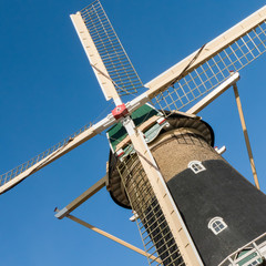 Mill Windlust in Wassenaar, Netherlands.