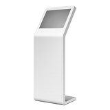 3D Outdoor White Metal Advertising Stand