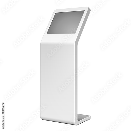 3D Outdoor White Metal Advertising Stand - 80756179