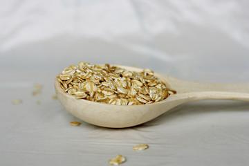 Oatmeal in a spoon