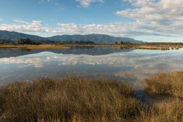 Orowaiti lagoon in New Zealand
