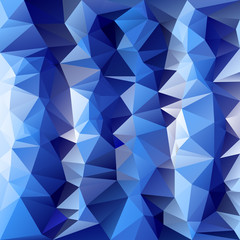 vector polygonal background pattern - triangular cold ice blue